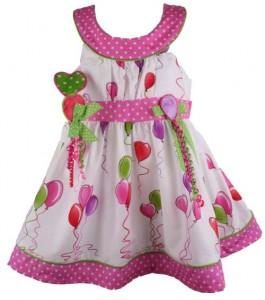 Bonnie Jean Baby Girls Heart Balloon Birthday Dress with Headband