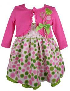Bonnie Jean Baby Girls Polka Dot Birthday Dress