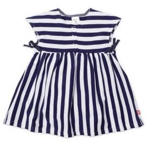 blue-and-white-stripes dress