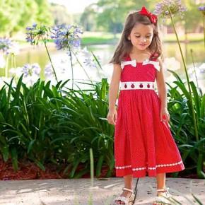 Red and White Ladybug Dress