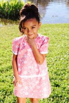 floral girl dress by treasure box kids