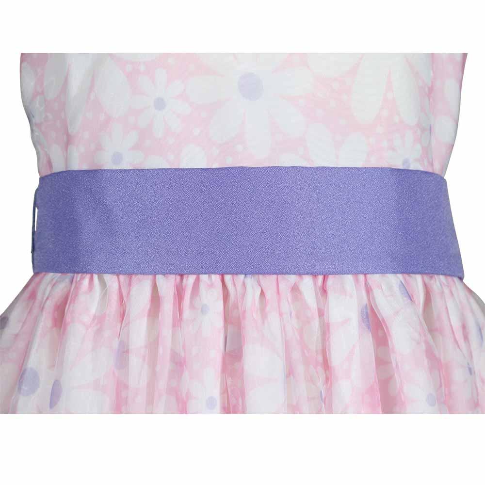 daisy purple and pink organza dress