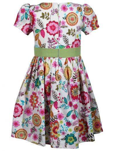 multi colored floral cotton victoria little girls dress a