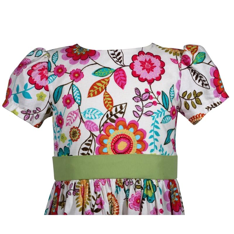 multi colored floral cotton victoria little girls dress b