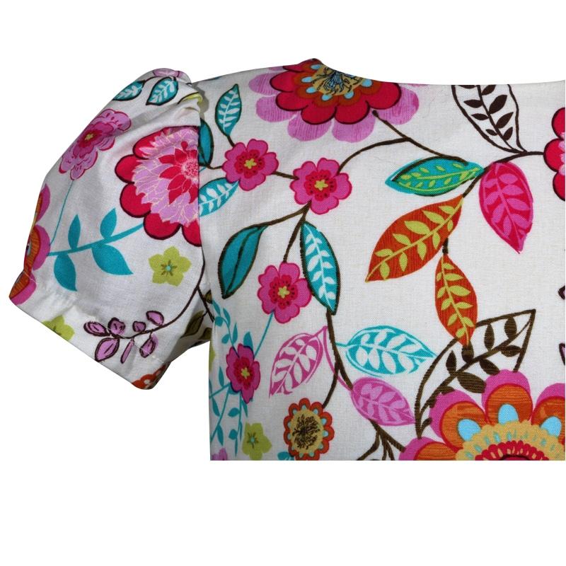 multi colored floral cotton victoria little girls dress c