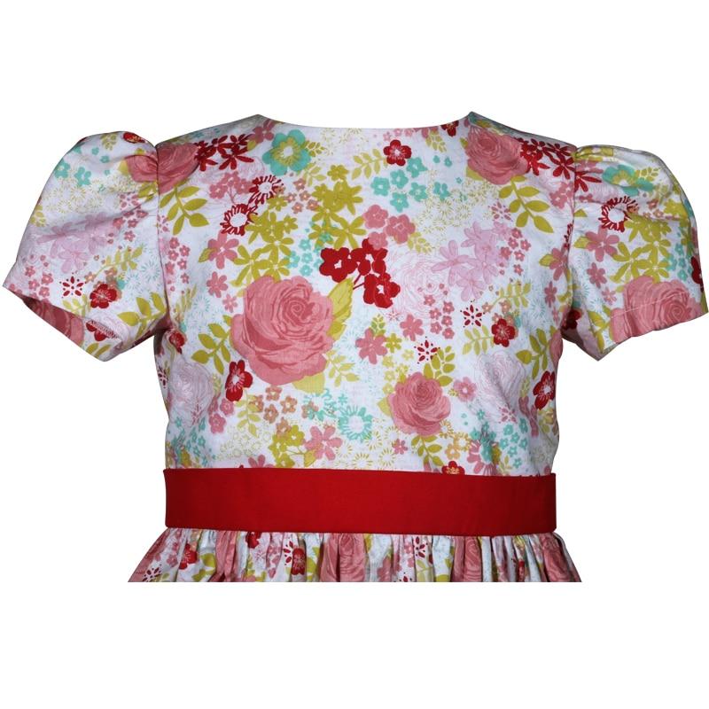 pink rose floral cotton victoria little girls dress a