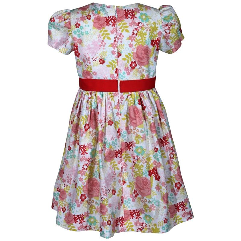 pink rose floral cotton victoria little girls dress c